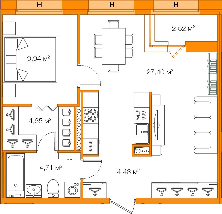 2Е-к.кв, 51.13 м²