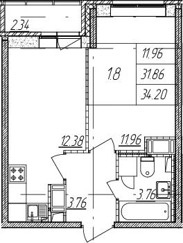 2Е-к.кв, 31.86 м²