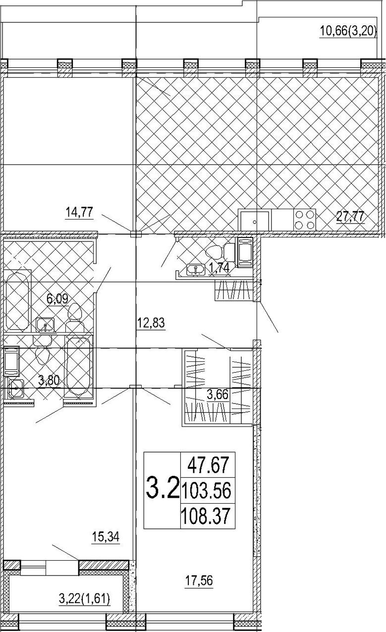 4-к.кв (евро), 119.6 м²