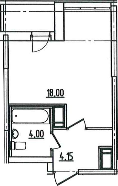 Студия, 27.49 м², 5 этаж