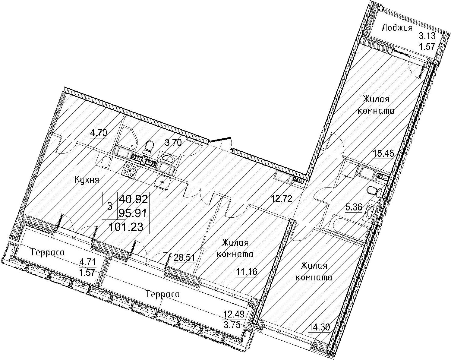 4-к.кв (евро), 115.21 м²