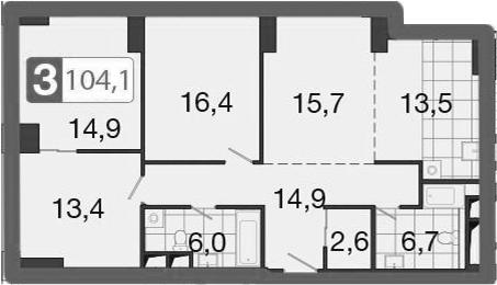 4-к.кв (евро), 104.9 м²