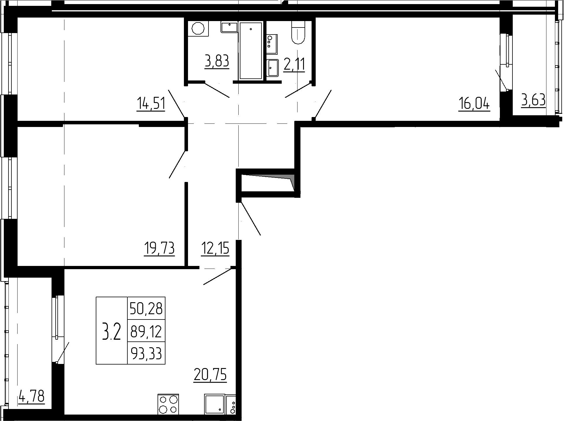4-к.кв (евро), 97.53 м²