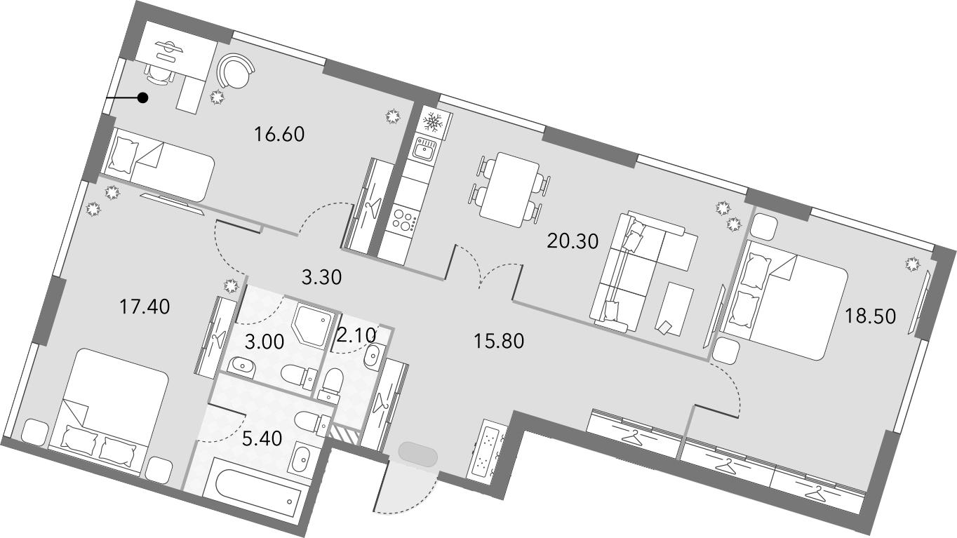 4Е-комнатная, 102.4 м²– 2