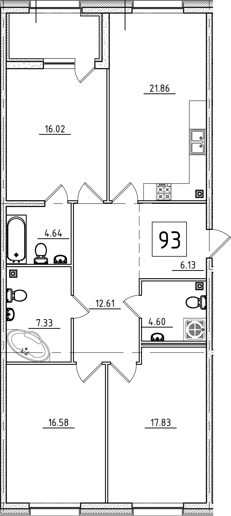 4Е-к.кв, 110.05 м², 3 этаж
