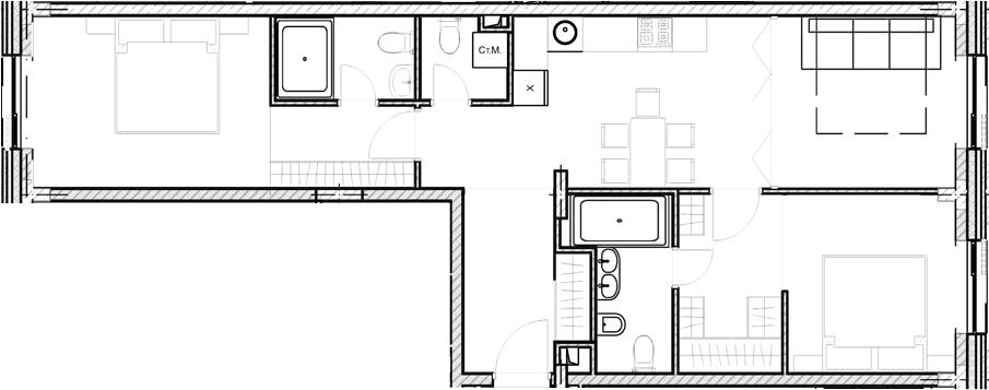 Свободная планировка, 70.7 м²– 2