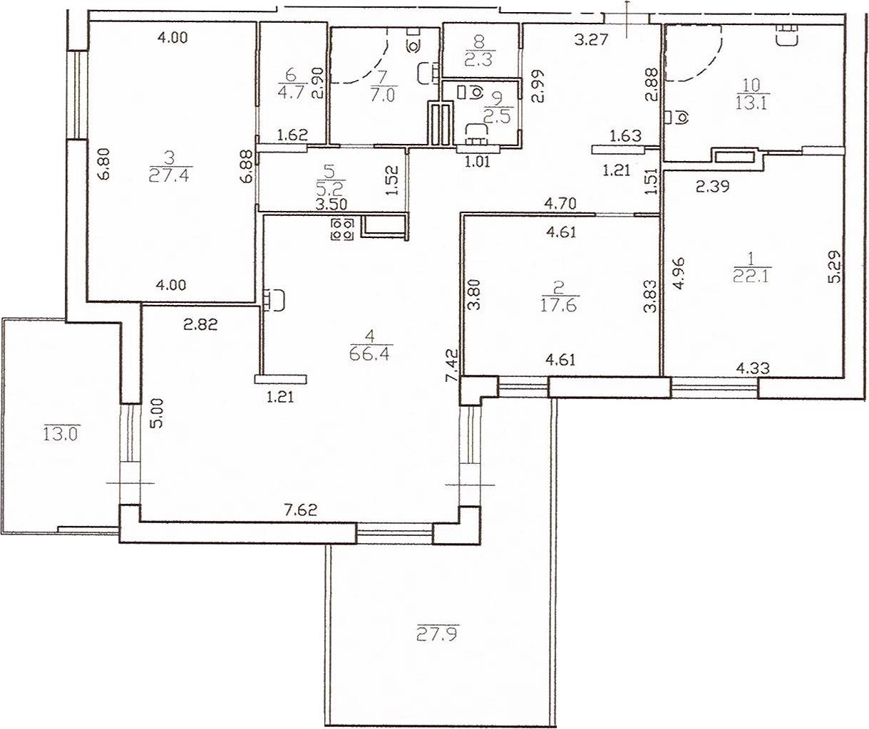 4Е-комнатная, 180.6 м²– 2