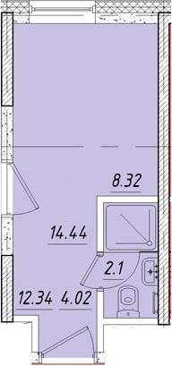 Студия, 15 м²