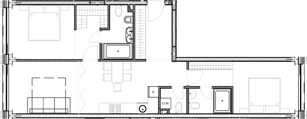 Свободная планировка, 73.3 м²– 2