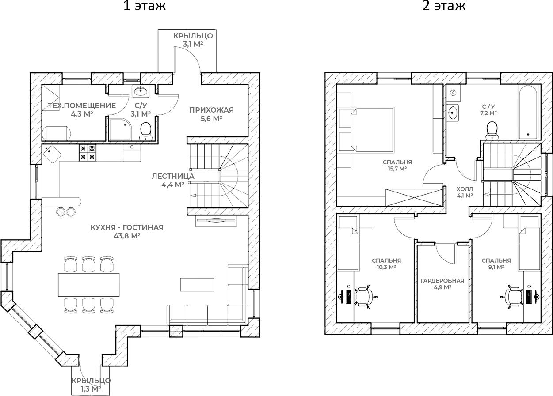 Коттедж, 112.5 м²– 2