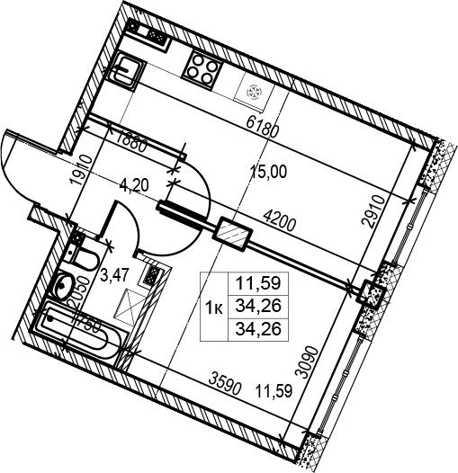 2Е-к.кв, 34.26 м²