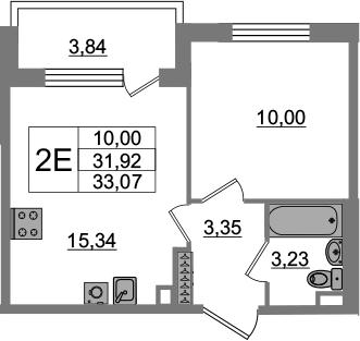 2-к.кв (евро), 35.76 м²