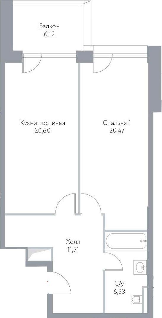 2-к.кв (евро), 79.51 м²