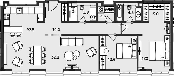 3-к.кв (евро), 103.8 м²