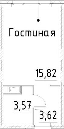 Студия, 23.01 м²