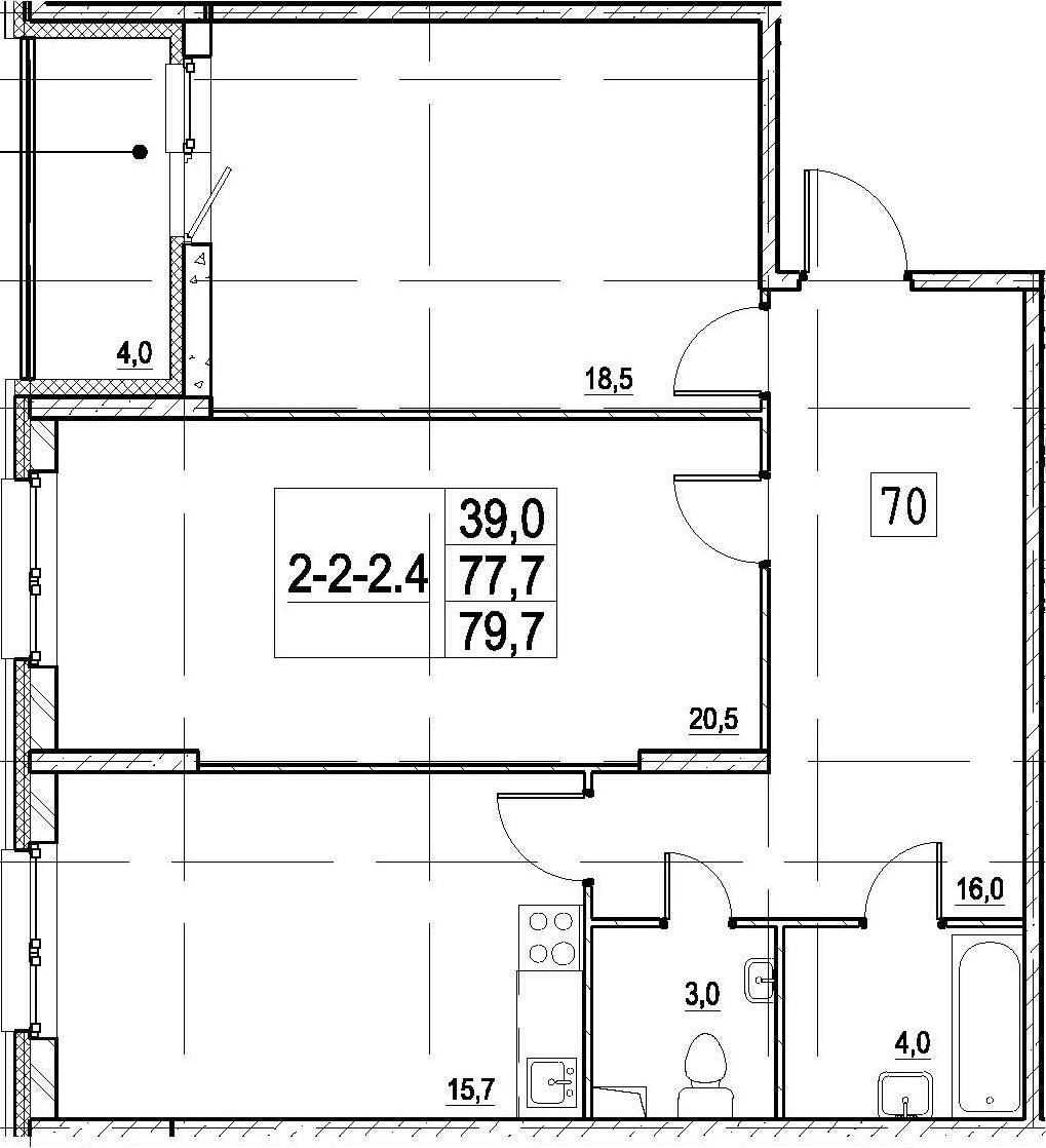 3Е-к.кв, 79.7 м²