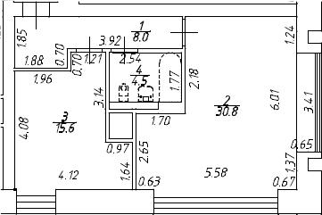 2Е-комнатная, 58.9 м²– 2