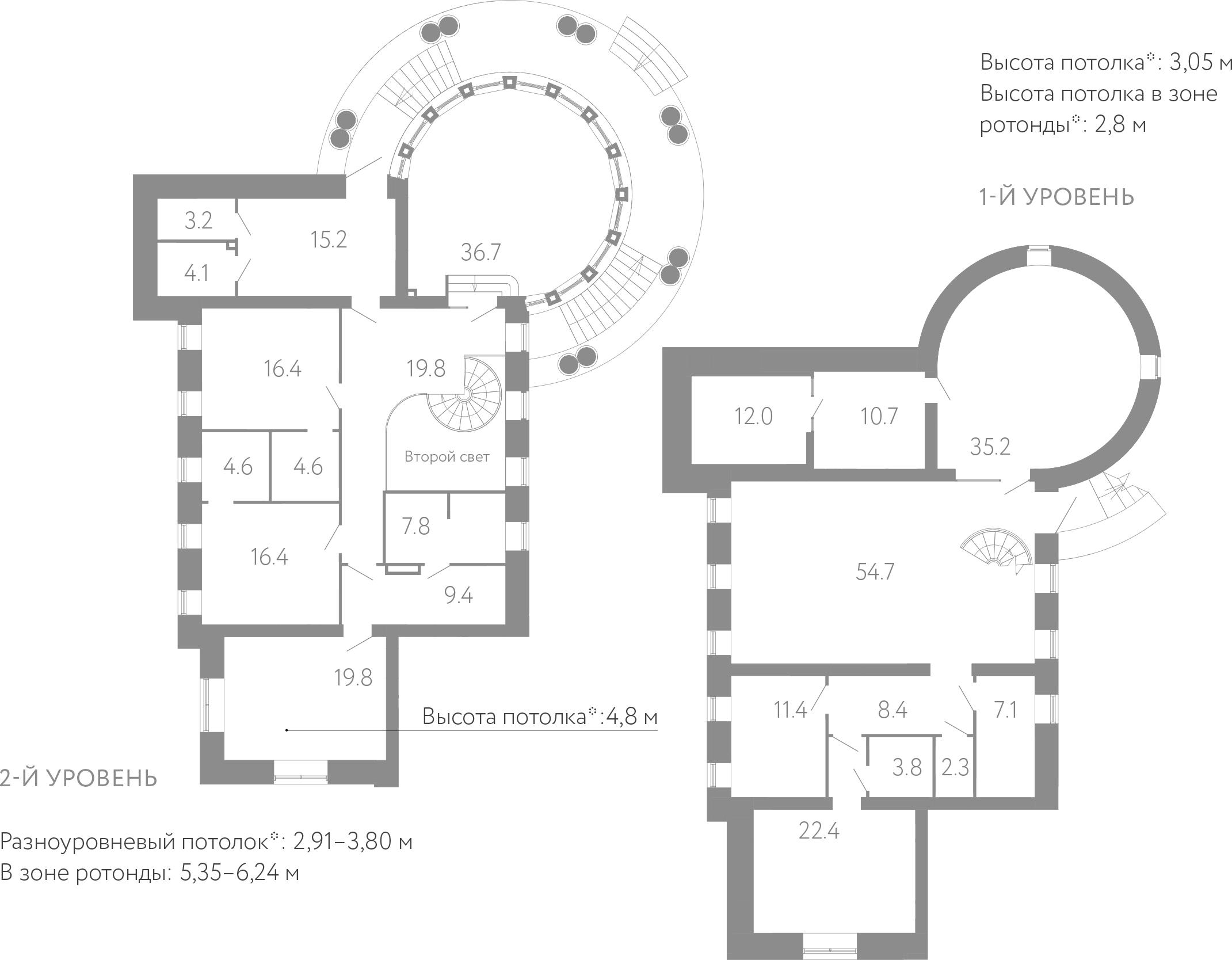 6-комнатная, 326 м²– 2
