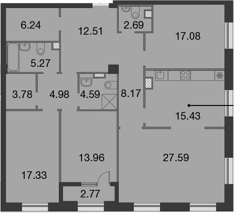 5Е-к.кв, 141.01 м²