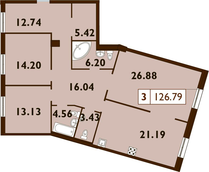 4Е-к.кв, 126.8 м²