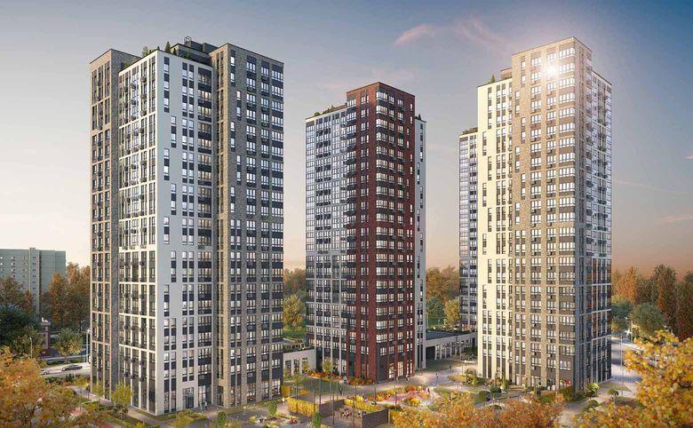 4Е-комнатная квартира, 67 м², 22 этаж – 1