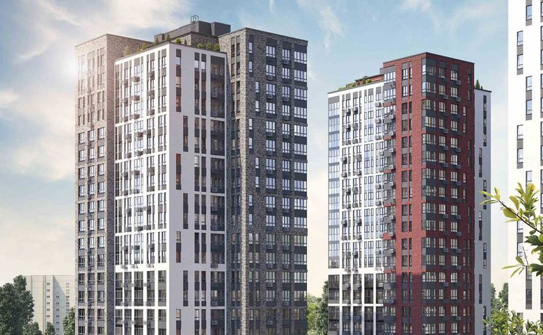 4Е-комнатная квартира, 67 м², 22 этаж – 2