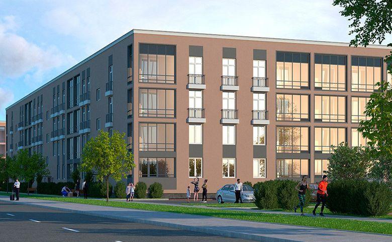 3Е-комнатная квартира, 55.62 м², 2 этаж – 12