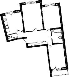 3-к.кв, 84.34 м²
