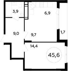 2-к.кв (евро), 47.4 м²
