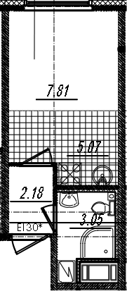 Студия, 18.11 м²