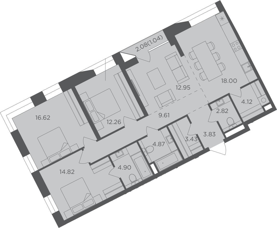 4-к.кв, 110.31 м²