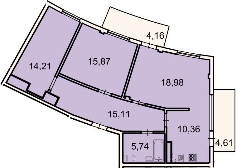 3-к.кв, 82.9 м²