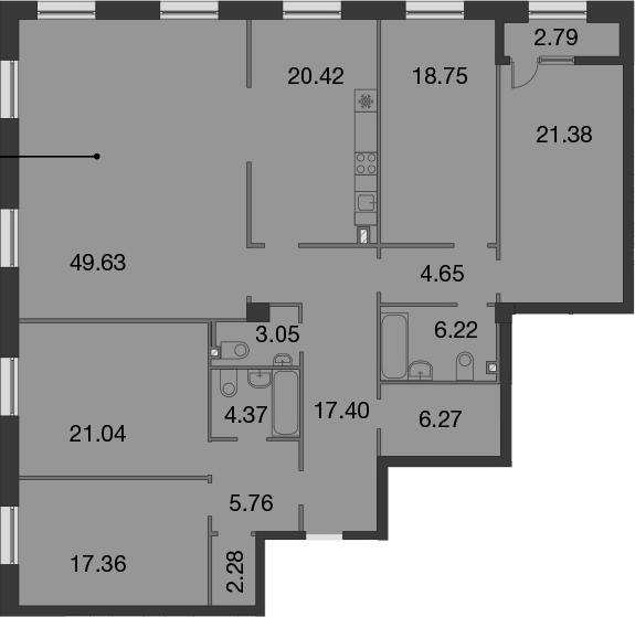 5-к.кв, 201.37 м²