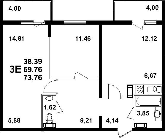 3-к.кв (евро), 77.76 м²