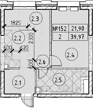1-к.кв, 39.97 м²