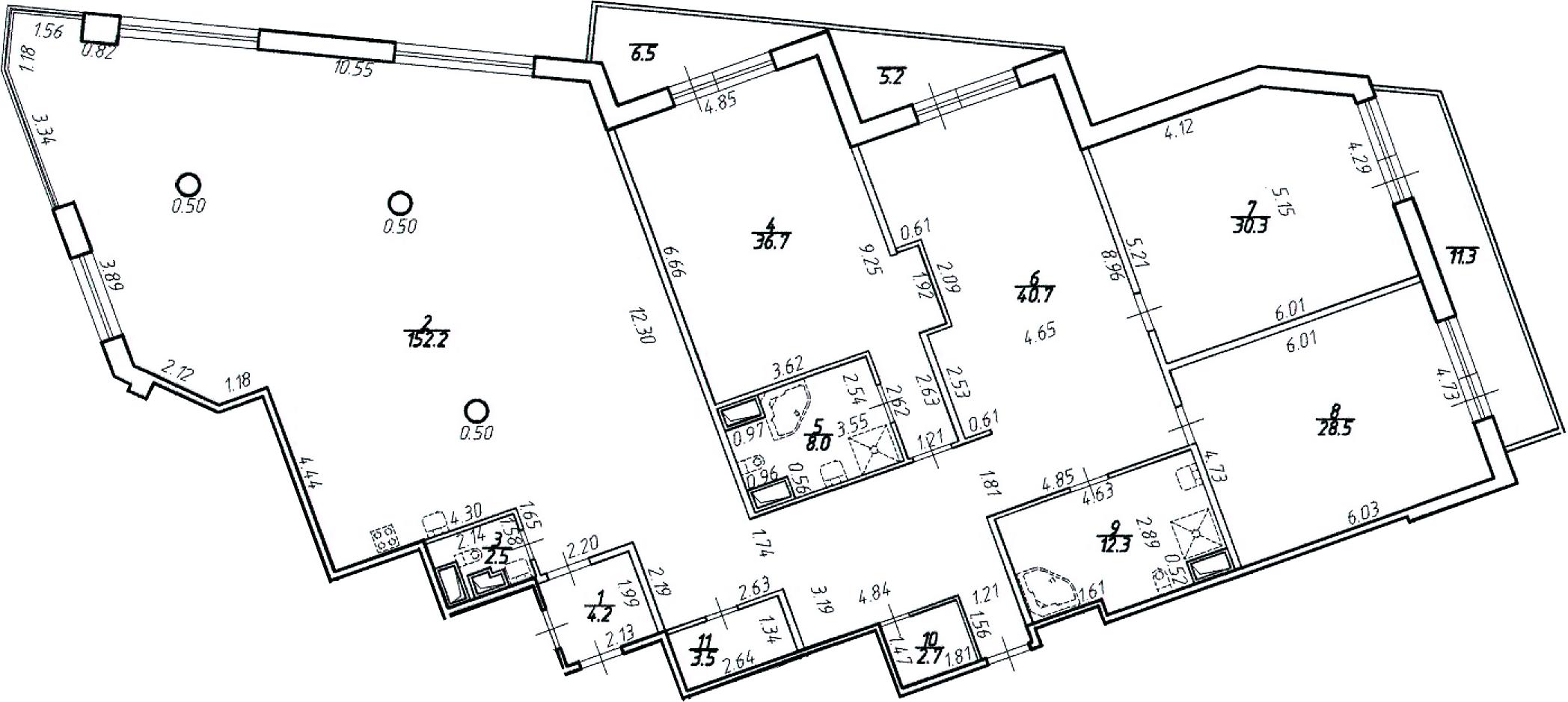 4Е-к.кв, 333.2 м², 11 этаж