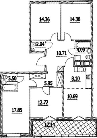 5Е-комнатная, 110.44 м²– 2