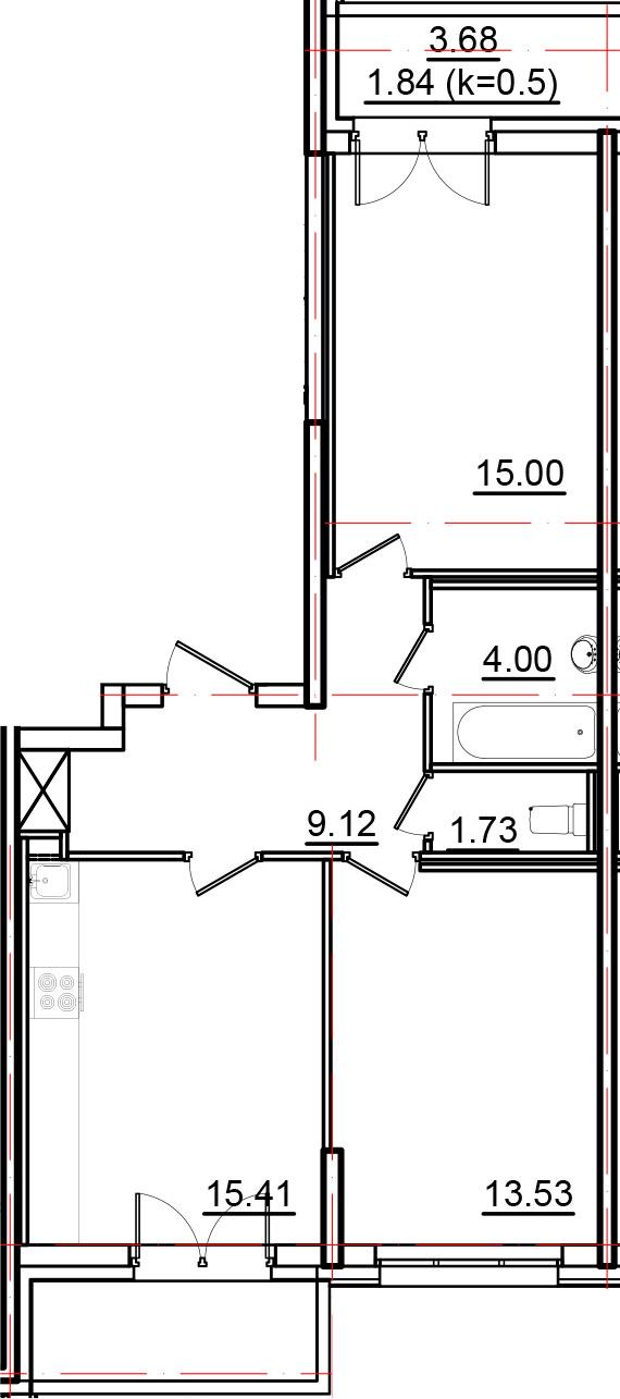 3-к.кв (евро), 66.47 м²