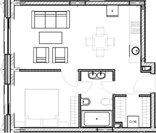 Своб. план., 43.35 м²