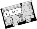 Своб. план., 41.7 м²