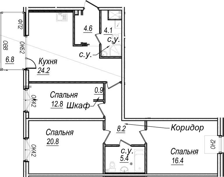4Е-к.кв, 102.6 м²