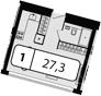 Своб. план., 27.3 м²