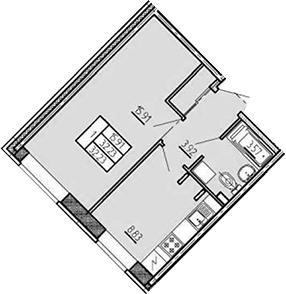 1-к.кв, 32.23 м², 1 этаж