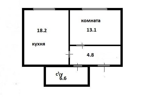 2-к.кв (евро), 42.7 м²