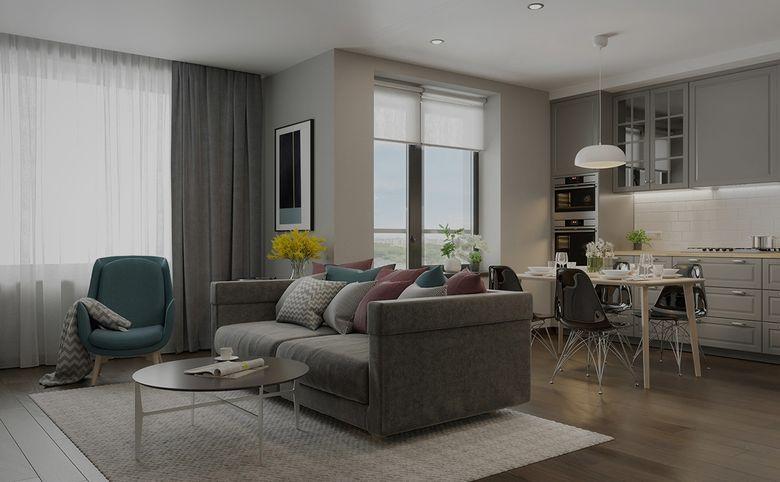 3-комнатная квартира, 79.14 м², 7 этаж – 7