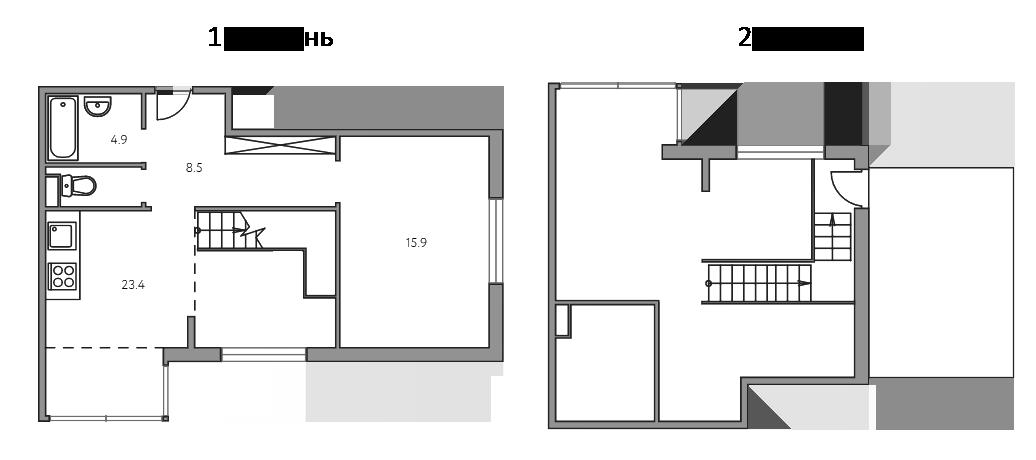Свободная планировка, 65.5 м²– 2