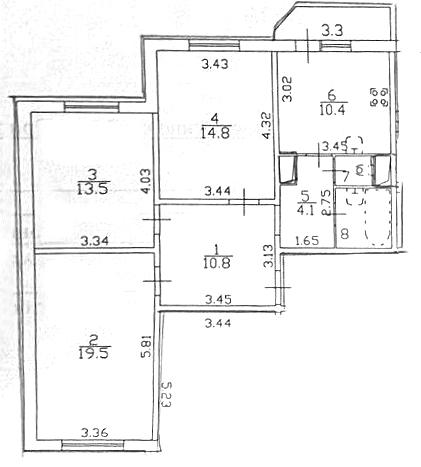3-к.кв, 79.84 м²
