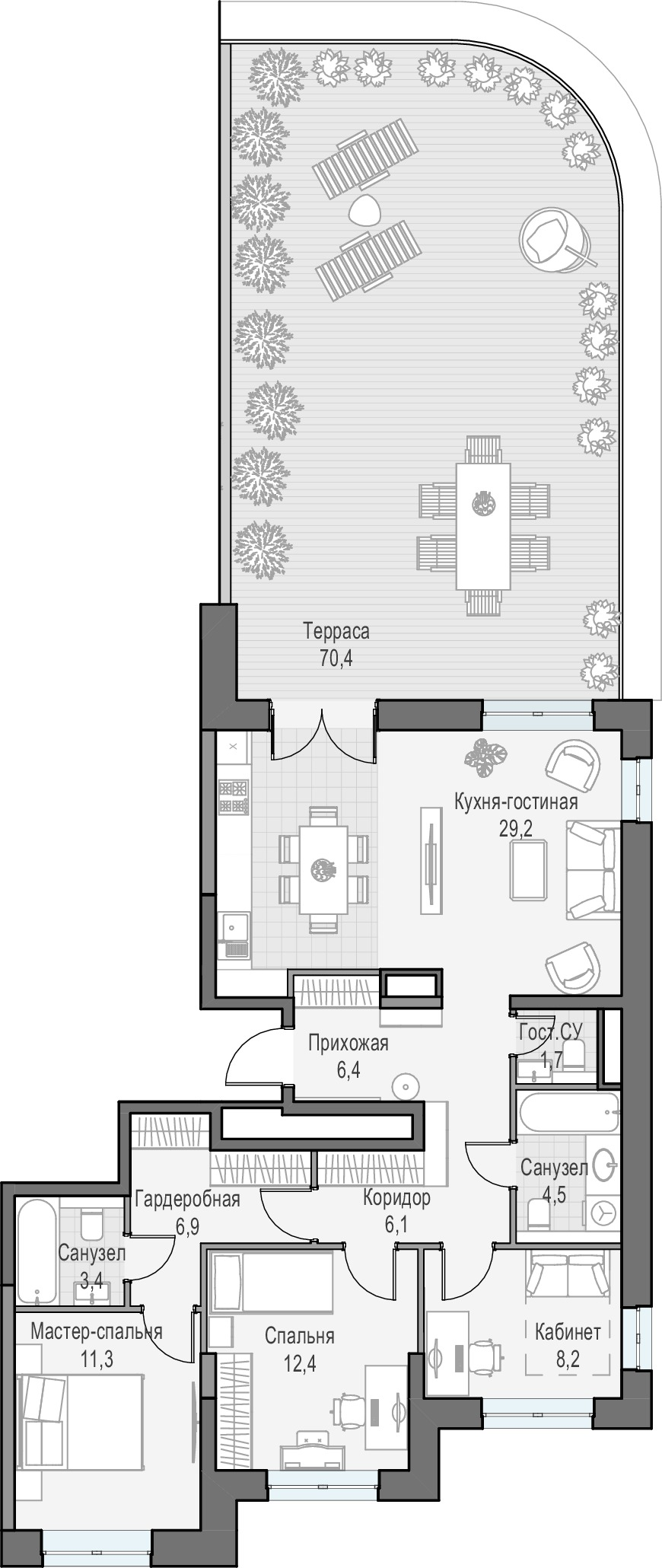 4Е-комнатная, 110.22 м²– 2