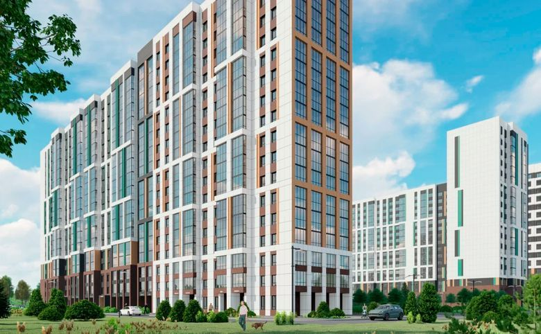 2Е-комнатная квартира, 40.2 м², 11 этаж – 5