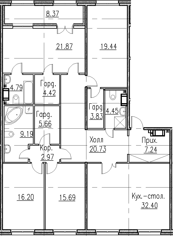 5Е-к.кв, 168.88 м²